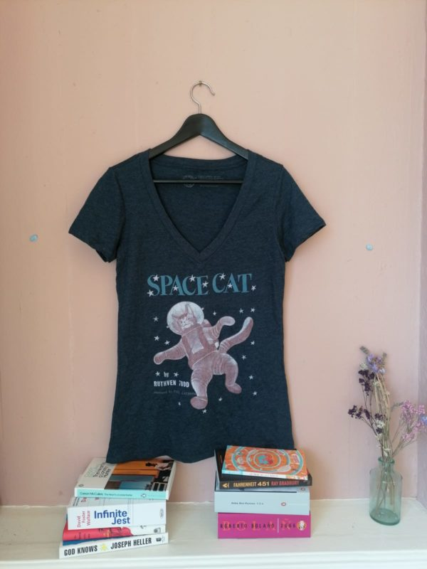 Spacecat fitted t-shirt by